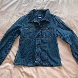 Women's Jean jacket with front pockets